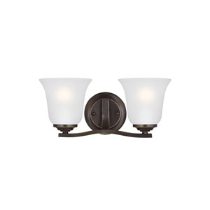 James Bronze 14-Inch Two-Light Bath Light