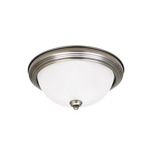 James Antique Brushed Nickel Energy Star Two-Light LED Flush Mount
