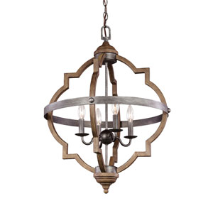 Olivia Stardust 21-Inch Energy Star Four-Light Hall Foyer