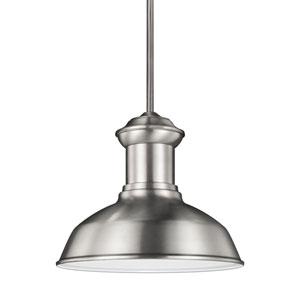 Lex Satin Aluminium One-Light Outdoor Pendant