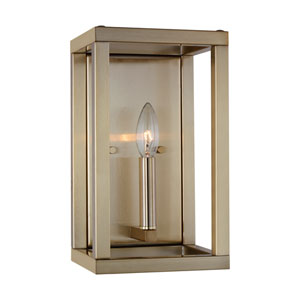 Castor Street Satin Bronze One-Light Bath Sconce Title 24