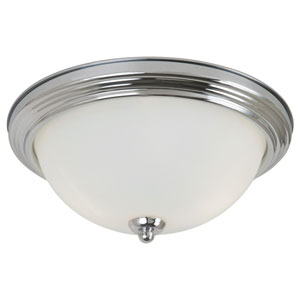 James Chrome Three Light Indoor Flush Mount Fixture