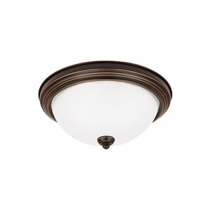 James Bronze Energy Star Three-Light LED Flush Mount