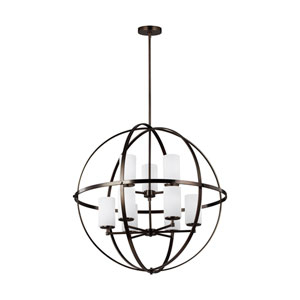 Nicollet Oil Rubbed Bronze Nine-Light Chandelier Energy Star/Title 24
