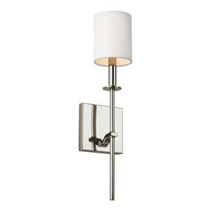 Ava Polished Nickel 5-Inch One-Light Bath Light