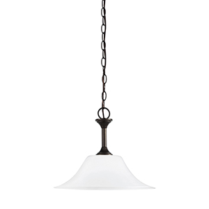 Webster Bronze Energy Star 15-Inch One-Light Pendant