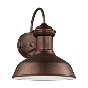 Lex Weathered Copper 10-Inch LED Outdoor Wall Sconce