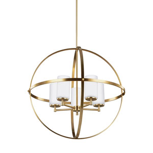 Nicolet Satin Bronze 27-Inch Five-Light Chandelier