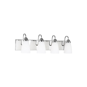 Nora Chrome Four-Light Wall Sconce