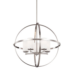 Nicolet Brushed Nickel Five-Light Pendant