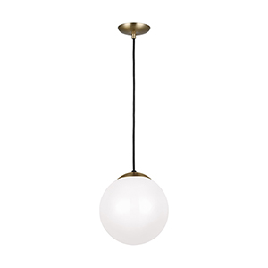 Loring Satin Bronze 10-Inch One-Light Pendant