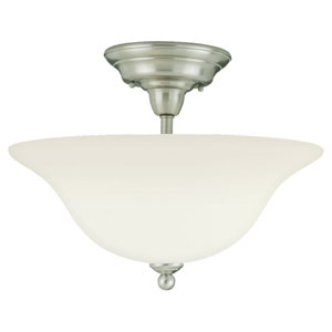 Partridge Brushed Nickel Semi-Flush Ceiling Light