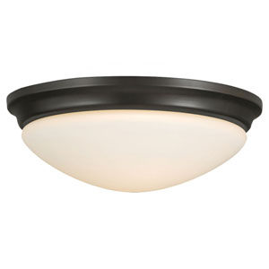 Evelyn Oil Rubbed Bronze Two-Light Indoor Flush Mount Fixture
