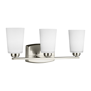 Anita Brushed Nickel 21-Inch Three-Light Bath Vanity