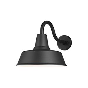 Hayes Light Black 14-Inch One-Light Outdoor Wall Lantern