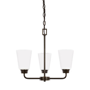 Whitter Bronze Three-Light Chandelier