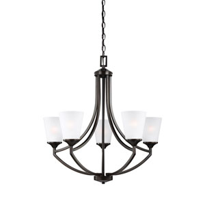 Linden Burnt Sienna Five-Light Chandelier