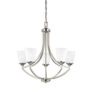 Linden Brushed Nickel Five-Light Chandelier