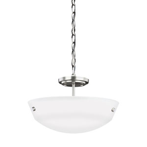 Whitter Brushed Nickel Two-Light Pendant