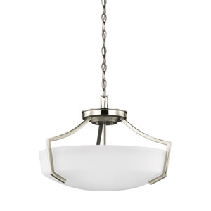 Linden Brushed Nickel Three-Light Pendant