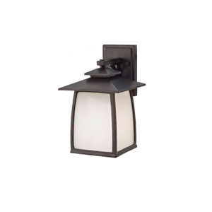 York House Oil Rubbed Bronze 12.5 Inch Hight One Light Outdoor Lantern