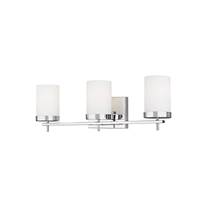 Loring Chrome Three-Light Wall Sconce