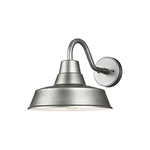 Hayes Light Weathered Pewter 12-Inch One-Light Outdoor Wall Lantern