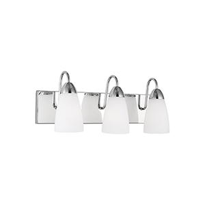 Nora Chrome Three-Light Energy Star Wall Sconce