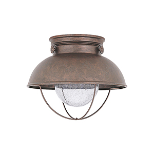Knox Weathered Copper 11-Inch LED Outdoor Flush Mount