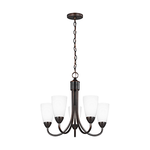 Nora Burnt Sienna 21-Inch Five-Light Chandelier