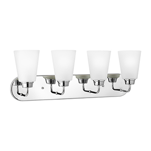 Whitter Chrome 25-Inch Four-Light Bath Vanity