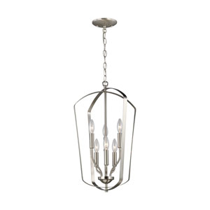 Lyndale Brushed Nickel Six-Light Pendant Title 24