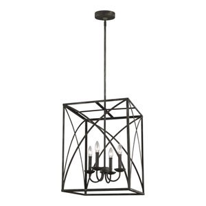 Eloise Iron Oxide 17-Inch Four-Light Pendant