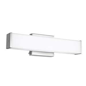 Loring Brushed Nickel 19-Inch LED Bath Bar