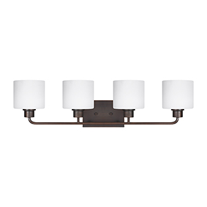 Nora Burnt Sienna 32-Inch Four-Light Bath Vanity