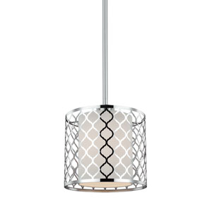 Uptown Brushed Nickel One-Light Mini Pendant
