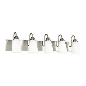 Nora Brushed Nickel 36-Inch Five-Light Bath Vanity