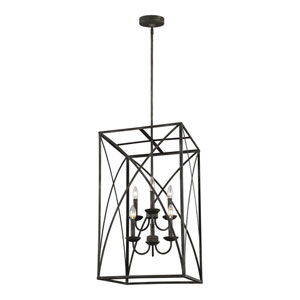 Eloise Iron Oxide 17-Inch Six-Light Pendant