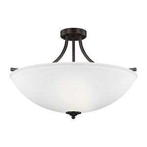 James Burnt Sienna Energy Star 25-Inch Four-Light Semi Flush Mount