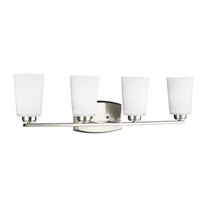 Anita Brushed Nickel 29-Inch Four-Light Bath Vanity