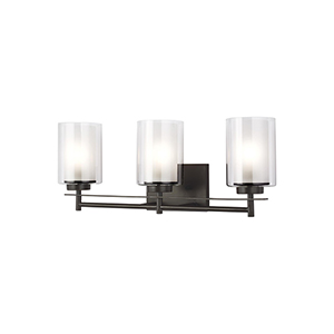 Uptown Bronze Three-Light Wall Sconce