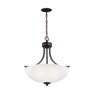 James Burnt Sienna Energy Star 19-Inch Three-Light Pendant