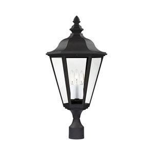 Wellington Black 13-Inch Energy Star Three-Light Outdoor Post Lantern