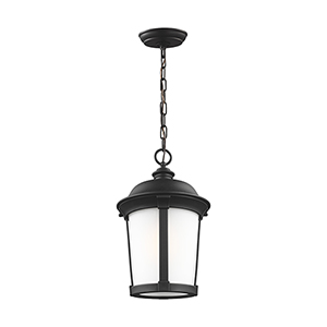 Anita Black 10-Inch One-Light Outdoor Pendant