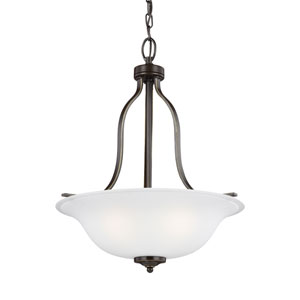 James Bronze 18-Inch Three-Light Chandelier