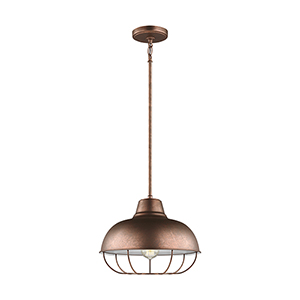 Lex Weathered Copper 14-Inch One-Light Pendant