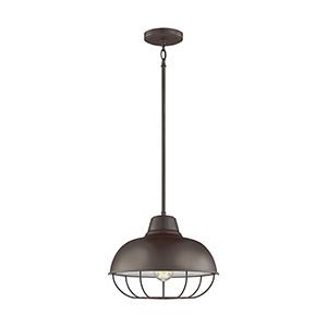 Lex Bronze 14-Inch One-Light Pendant