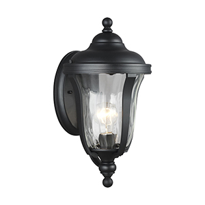 Charlotte Black One-Light Outdoor Wall Lantern