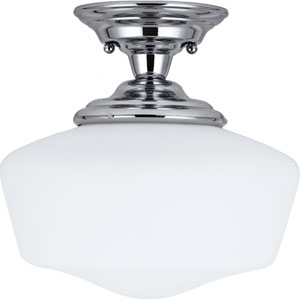 Russell Chrome One-Light Close to Ceiling Light