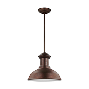 Lex Weathered Copper 13-Inch LED Outdoor Pendant